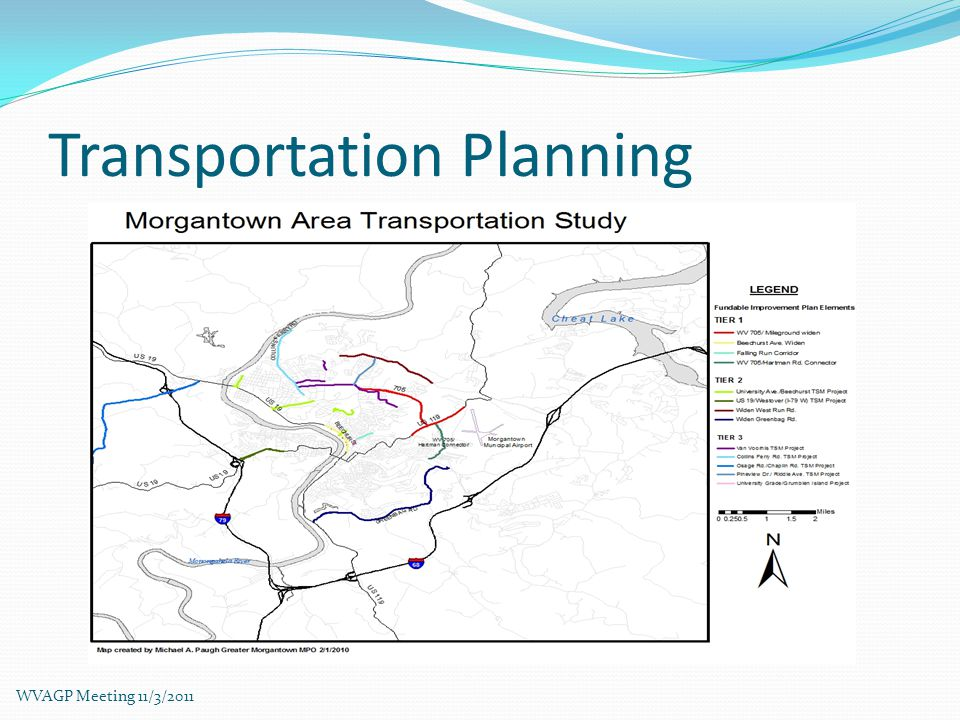 Transportation Planning WVAGP Meeting 11/3/2011