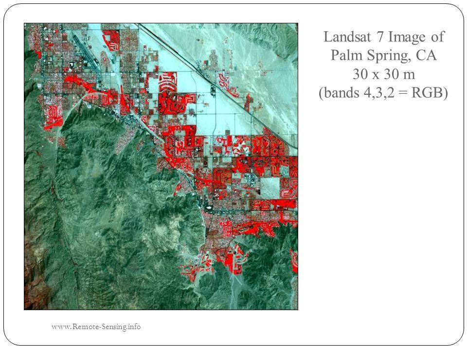 Landsat 7 Image of Palm Spring, CA 30 x 30 m (bands 4,3,2 = RGB) www.Remote-Sensing.info