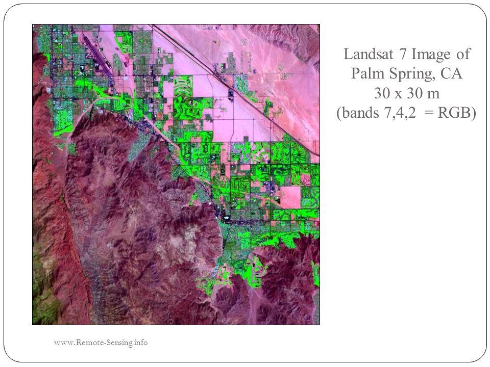 Landsat 7 Image of Palm Spring, CA 30 x 30 m (bands 7,4,2 = RGB) www.Remote-Sensing.info