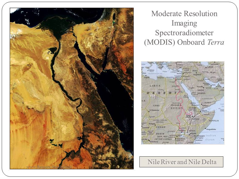 Moderate Resolution Imaging Spectroradiometer (MODIS) Onboard Terra Nile River and Nile Delta www.Remote-Sensing.info