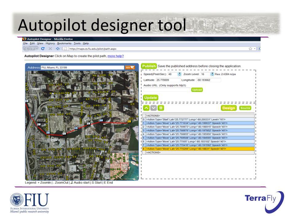 Autopilot designer tool