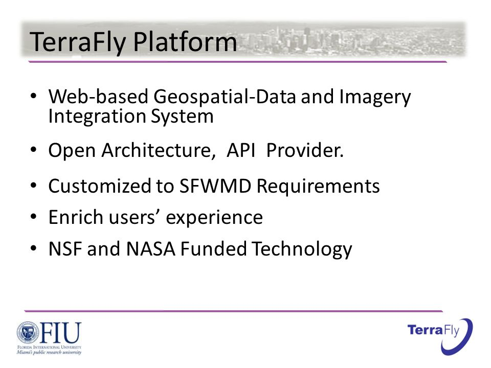 TerraFly Platform Web-based Geospatial-Data and Imagery Integration System Open Architecture, API Provider.