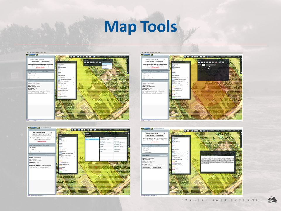 COASTAL DATA EXCHANGE Map Tools