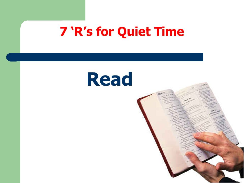 7 'R's for Quiet Time Read