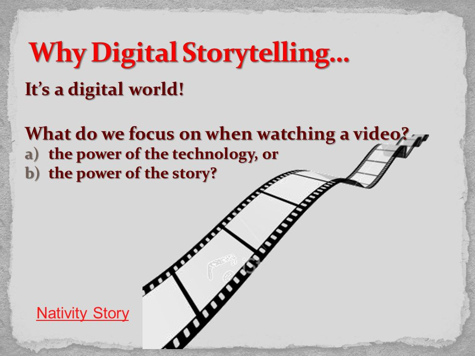 It's a digital world. What do we focus on when watching a video.