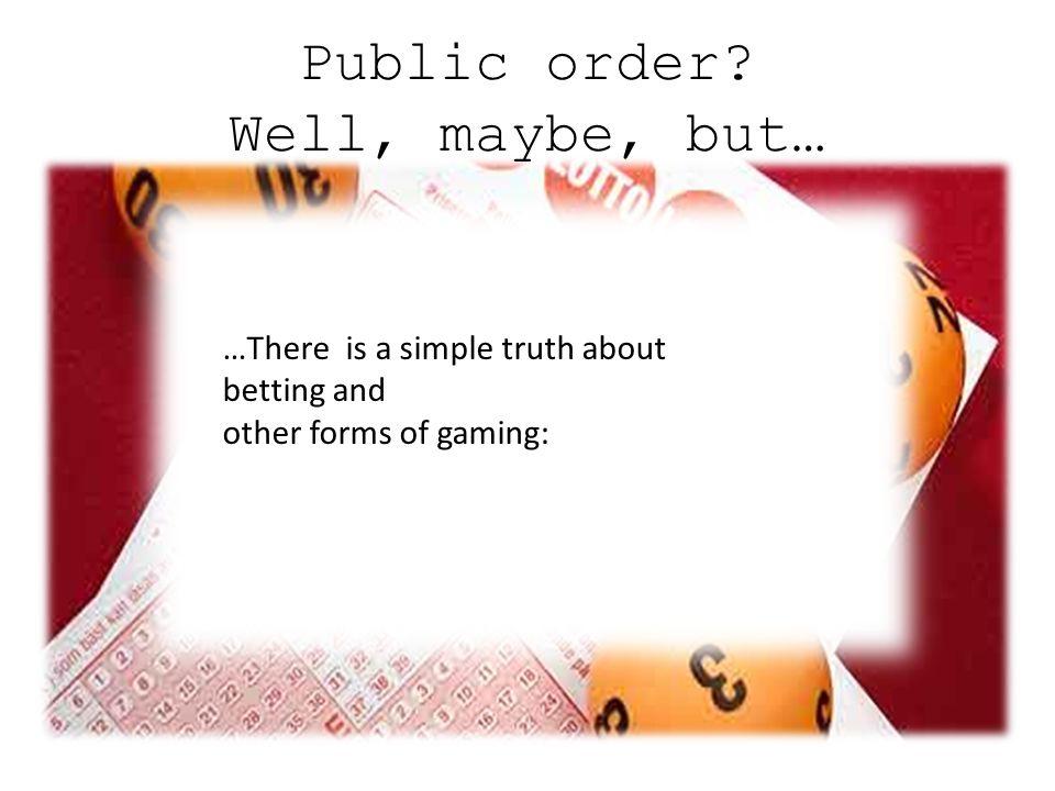 Public order.