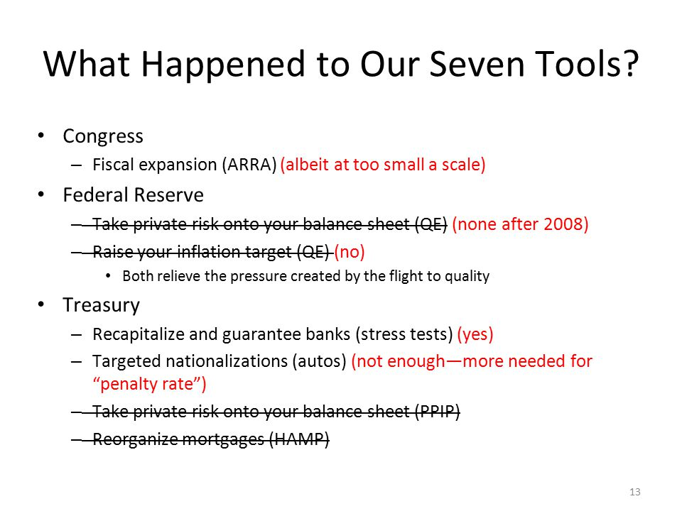 13 What Happened to Our Seven Tools.