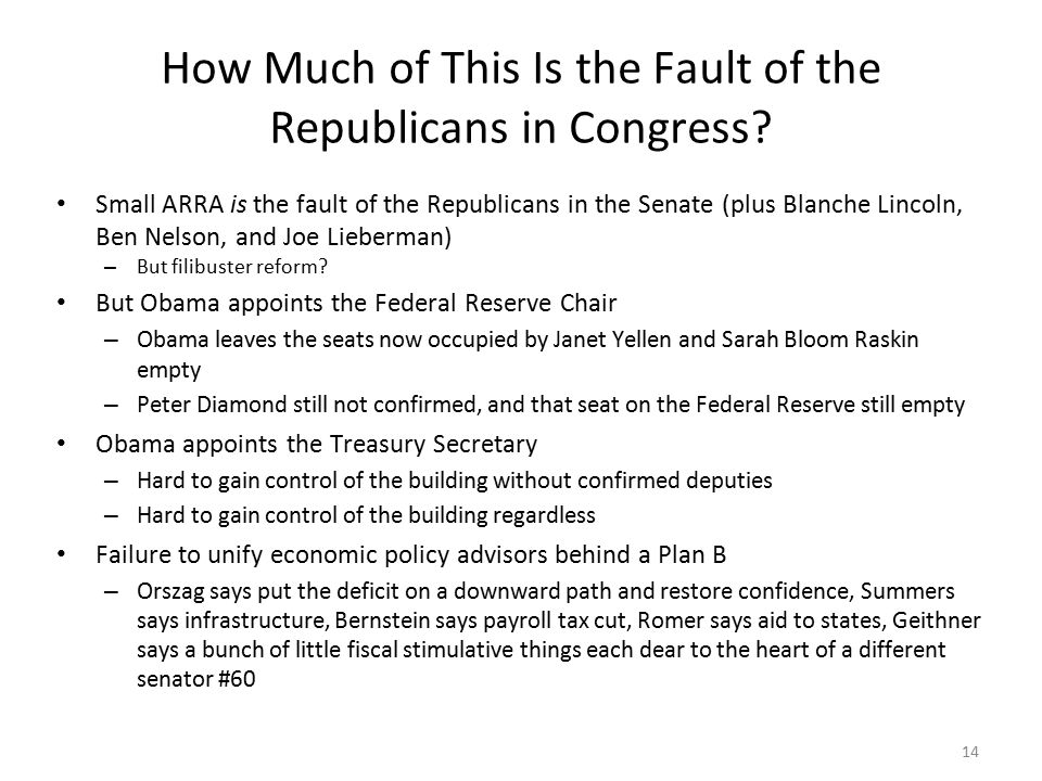 14 How Much of This Is the Fault of the Republicans in Congress.