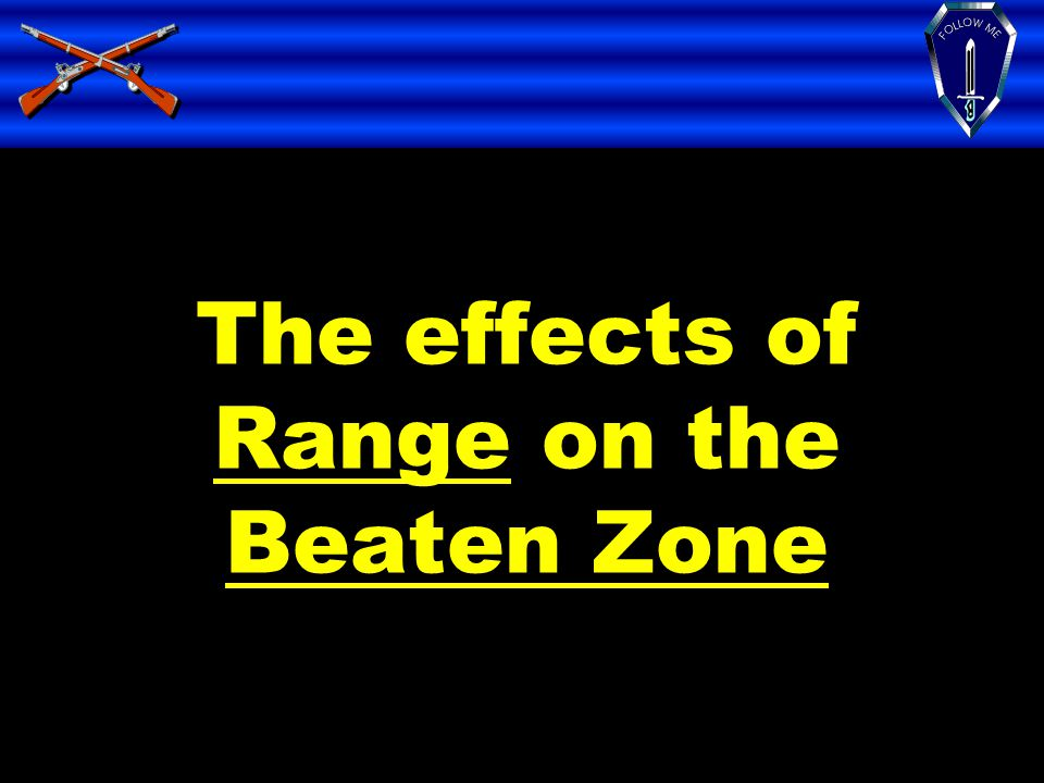 The effects of Range on the Beaten Zone