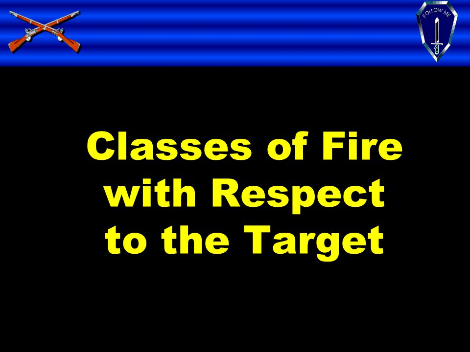 Classes of Fire with Respect to the Target