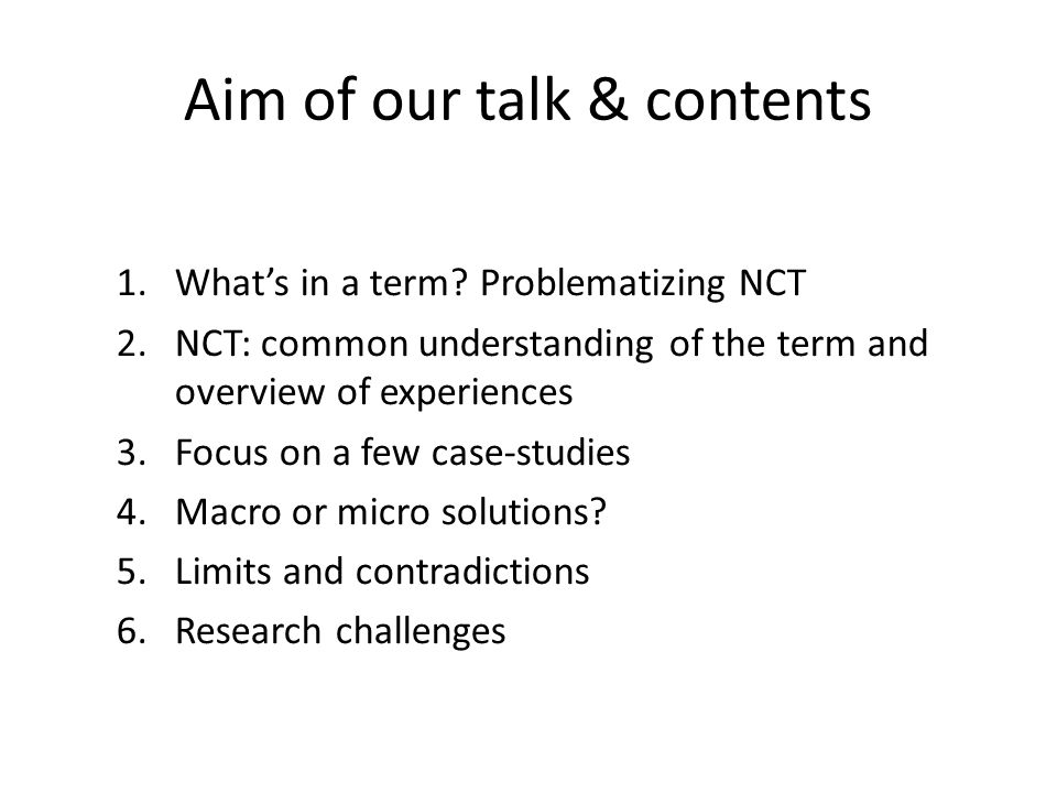 Aim of our talk & contents 1.What's in a term.