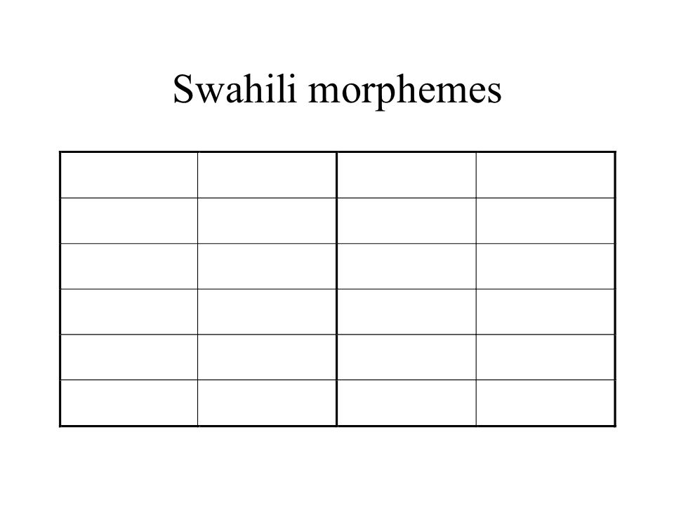 Swahili morphemes