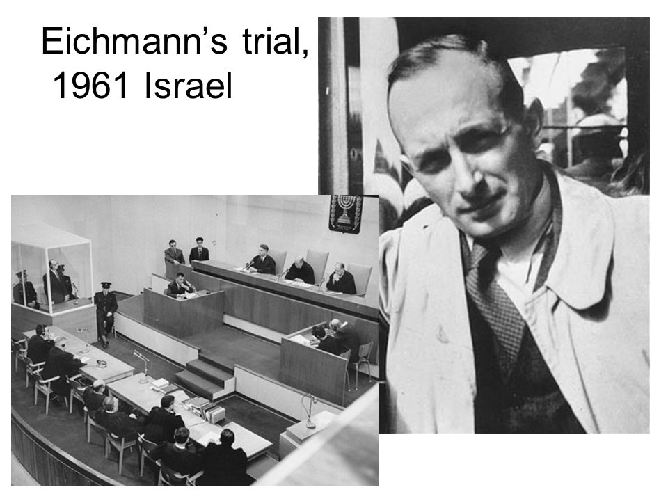Eichmann's trial, 1961 Israel