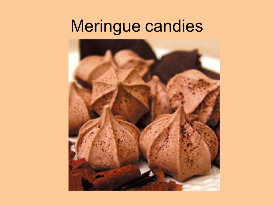 Meringue candies