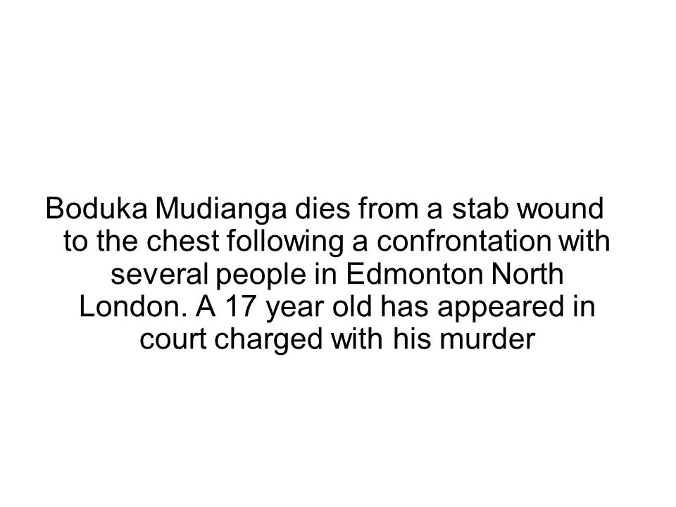 January 26 - Fuad Buraleh, 19, of Hayes, Middlesex, dies from a head injury after being beaten minutes after getting off a bus in Dean Gardens, Uxbridge Road, Ealing