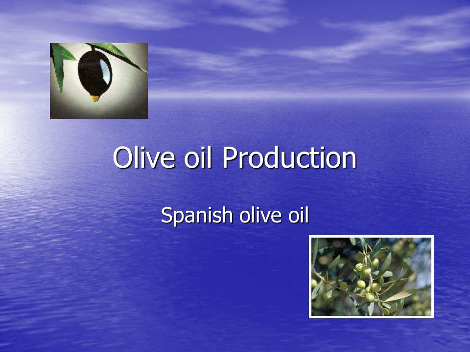 Olive oil Production Spanish olive oil