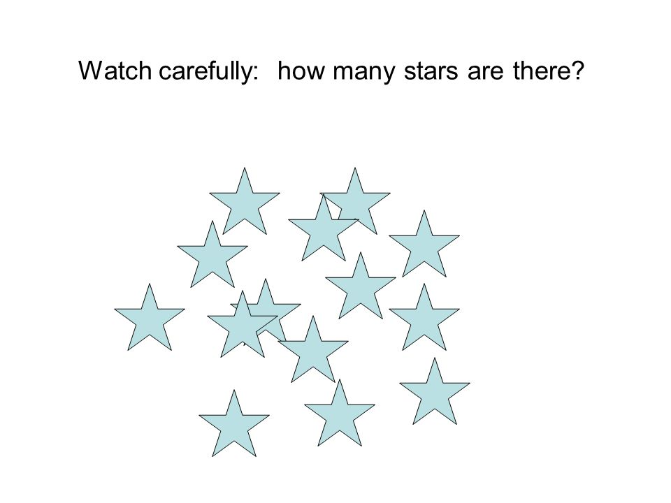 Watch carefully: how many stars are there