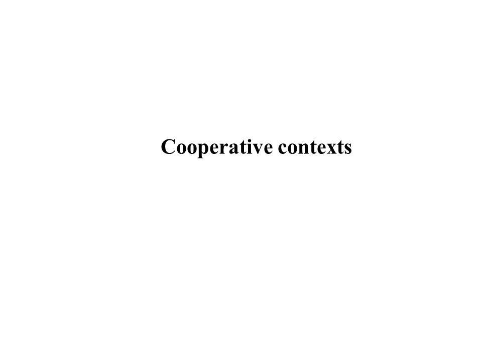 Cooperative contexts