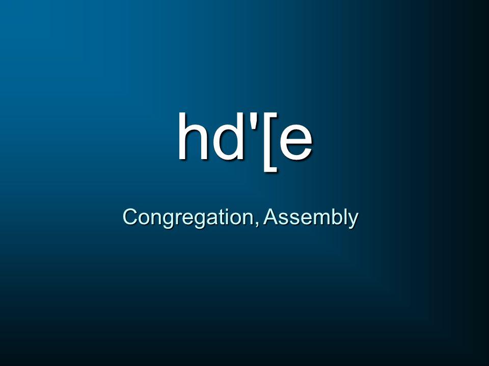 hd'[e Congregation, Assembly