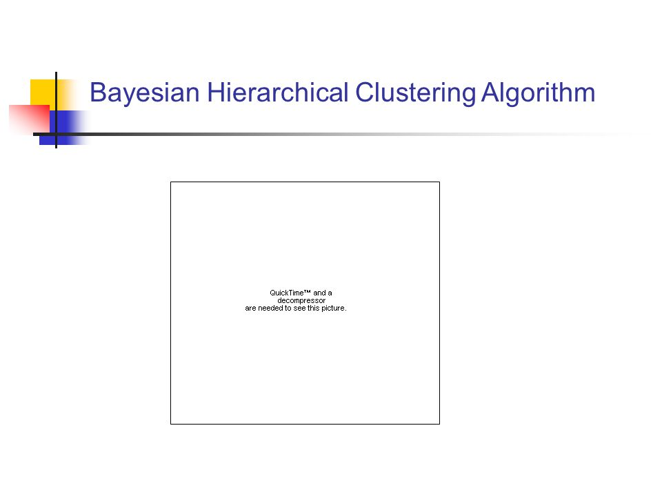 Bayesian Hierarchical Clustering Algorithm