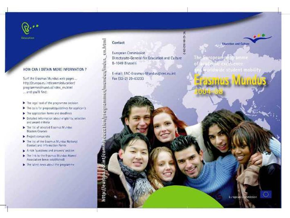 5 ERASMUS MUNDUS Programme Actions Action 1: Erasmus Mundus Masters Courses Action 2: Scholarships - for third-country highly qualified students and scholars Action 3: Partnerships between EU and non-Eu HEIs Action 4: Enhancing the attractiveness of Europe as an educational destination