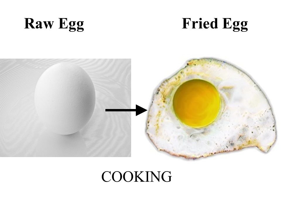 Raw Egg Fried Egg COOKING