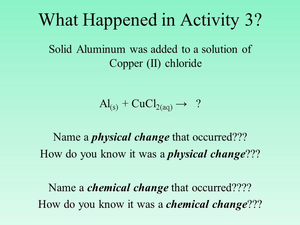 What Happened in Activity 3.