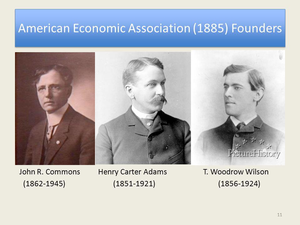 American Economic Association (1885) Founders John R.