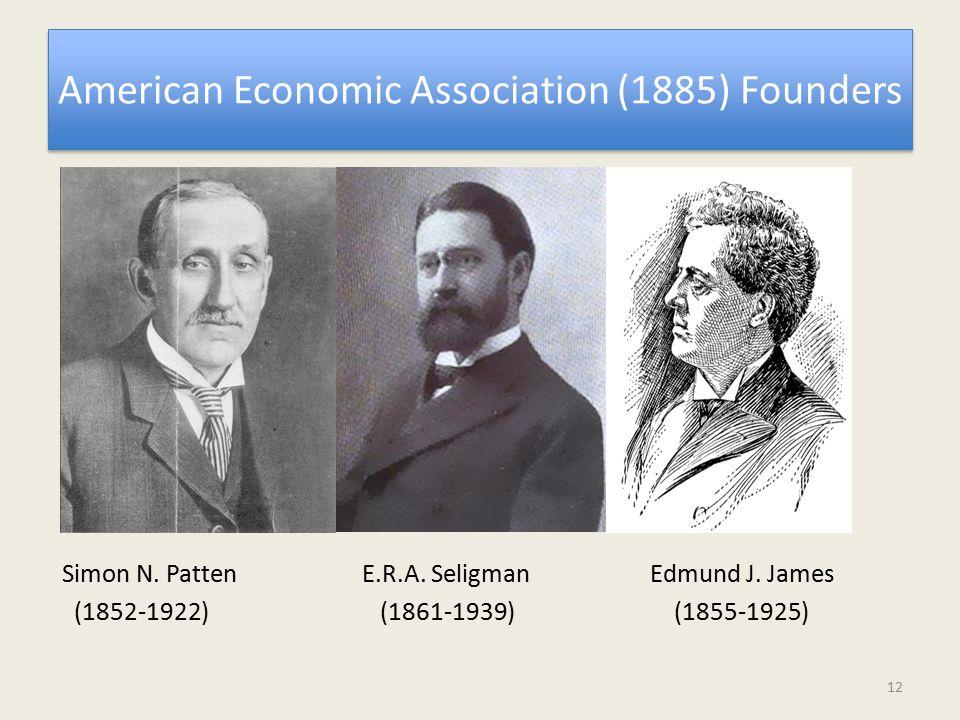 American Economic Association (1885) Founders Simon N.