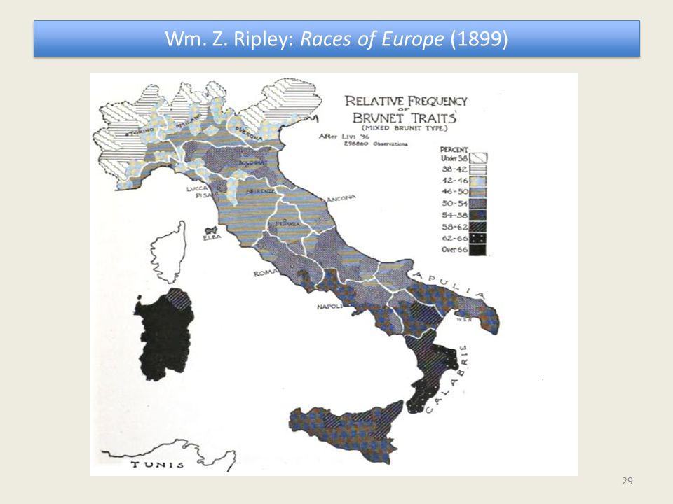 Wm. Z. Ripley: Races of Europe (1899) 29