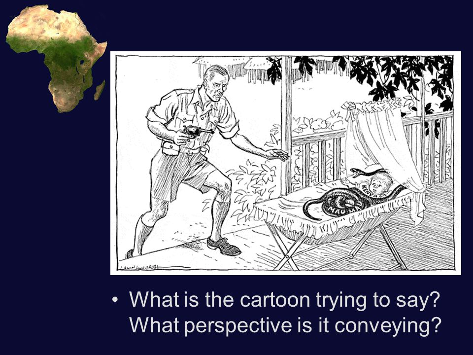 What is the cartoon trying to say What perspective is it conveying