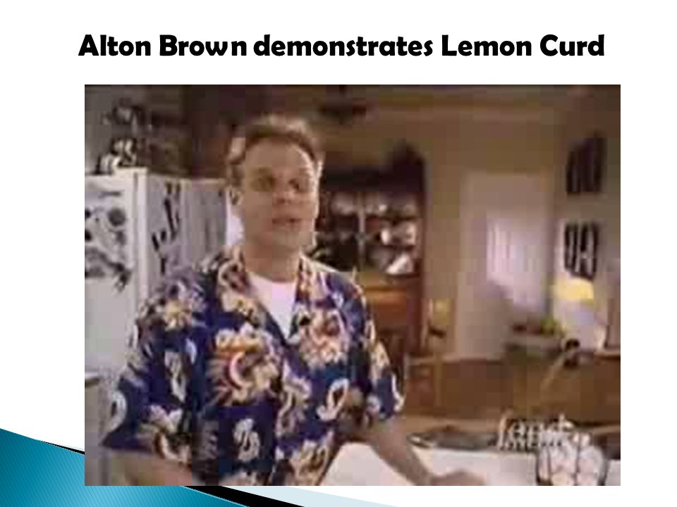 Alton Brown demonstrates Lemon Curd