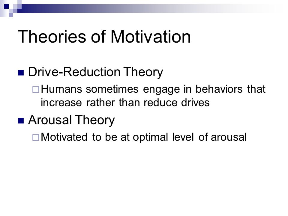 Motivations-to-Eat (Jackson et al., 2003) Suggests that there are four specific motivations for eating beyond the need for nourishment  To cope with negative affect  To be social  To comply with others' expectations  To enhance pleasure