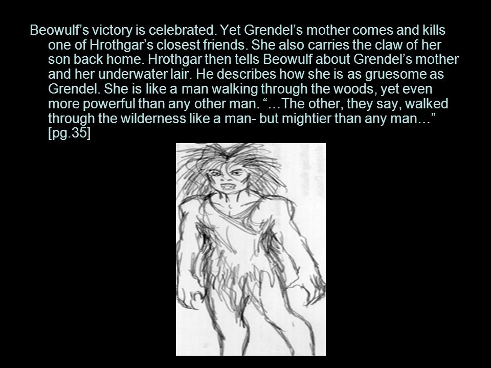 Beowulf's victory is celebrated.