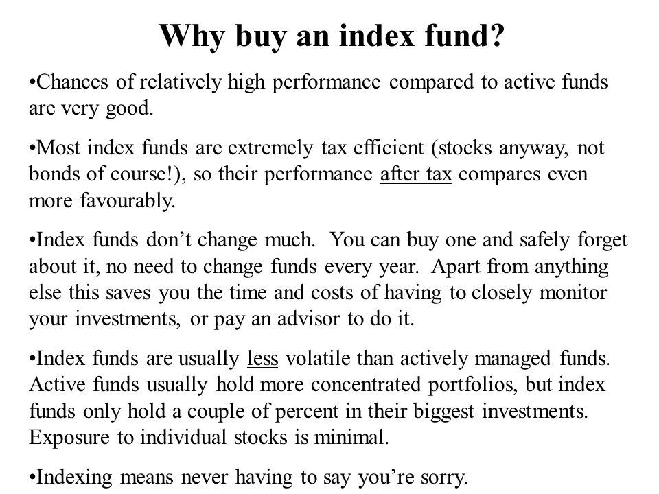 Why buy an index fund.