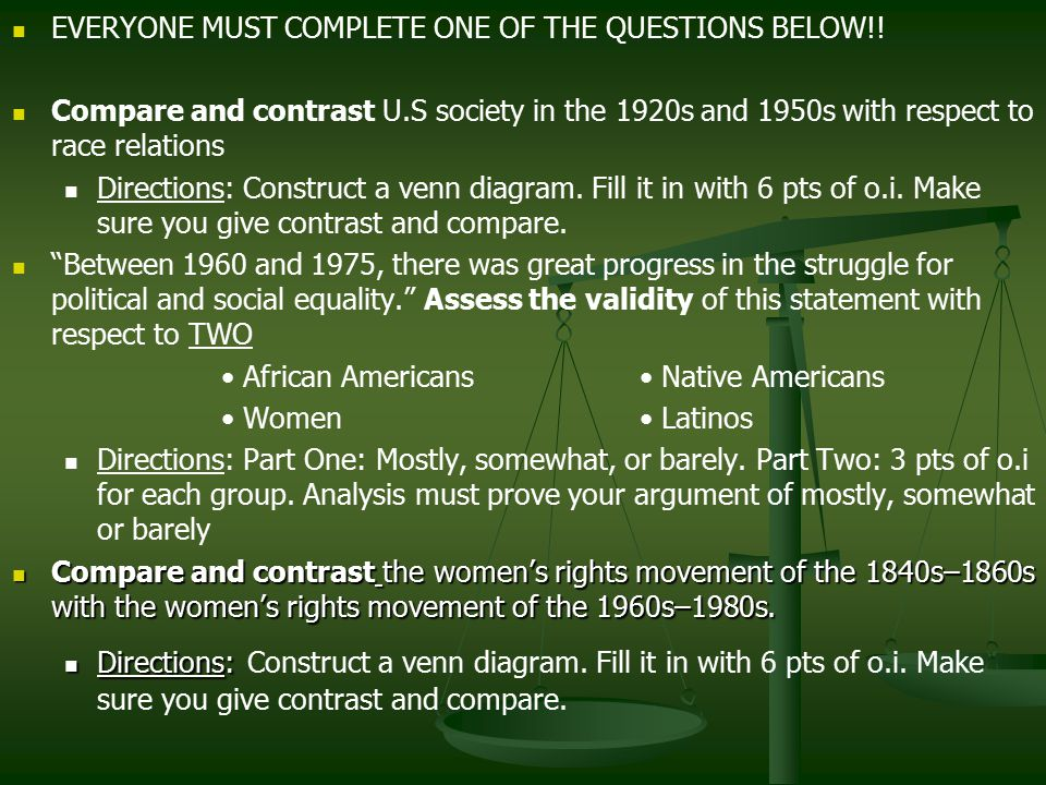 EVERYONE MUST COMPLETE ONE OF THE QUESTIONS BELOW!.