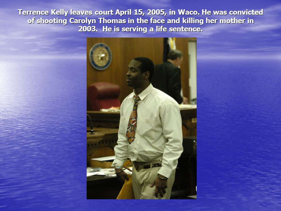 Terrence Kelly leaves court April 15, 2005, in Waco.