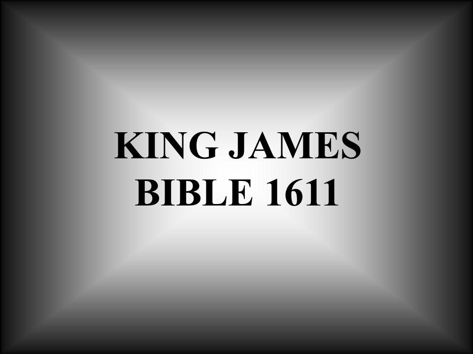 KING JAMES BIBLE 1611