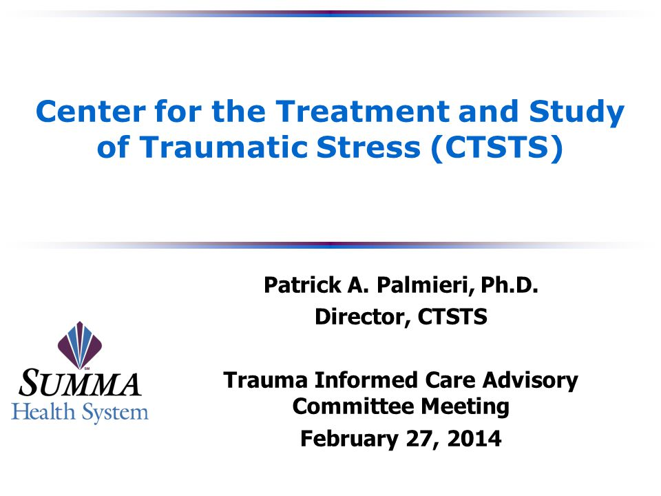 2 CTSTS Staff  Patrick Palmieri, Ph.D.– Director, CTSTS  Joseph Varley, M.D.
