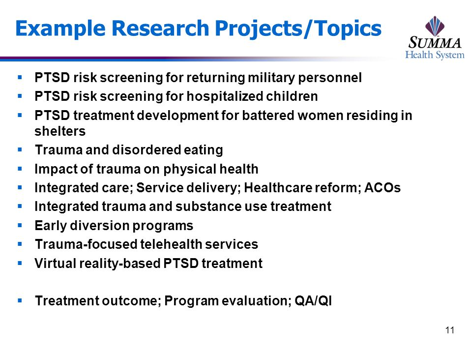 Center for the Treatment & Study of Traumatic Stress Summa St.