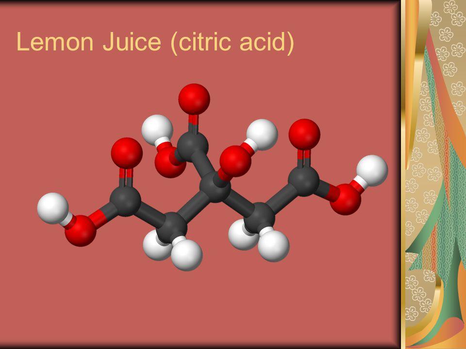 Lemon Juice (citric acid)
