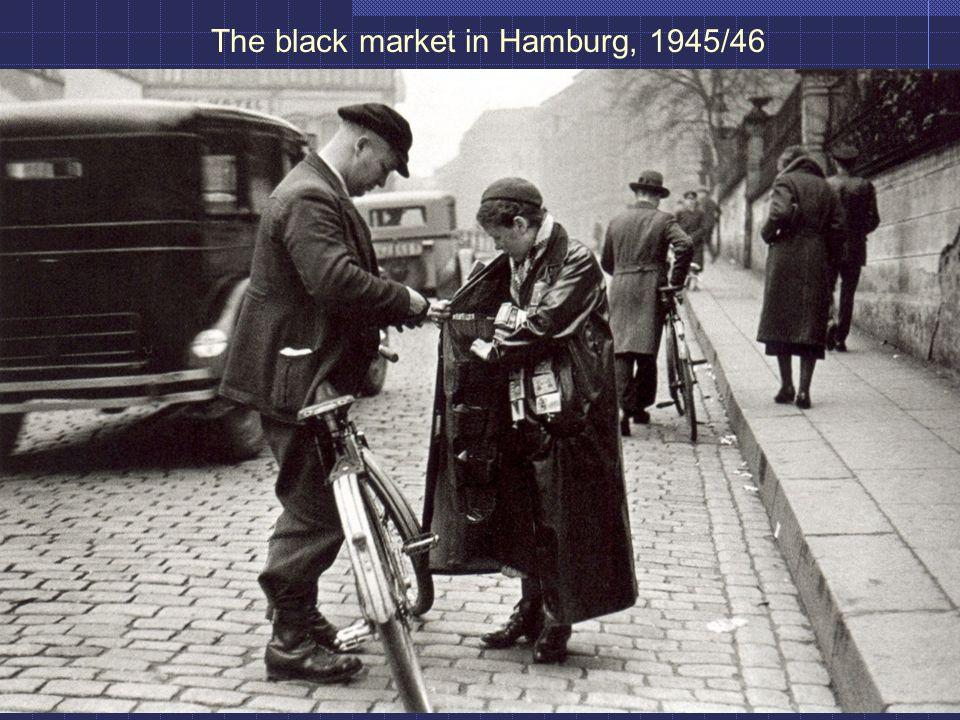 The black market in Hamburg, 1945/46