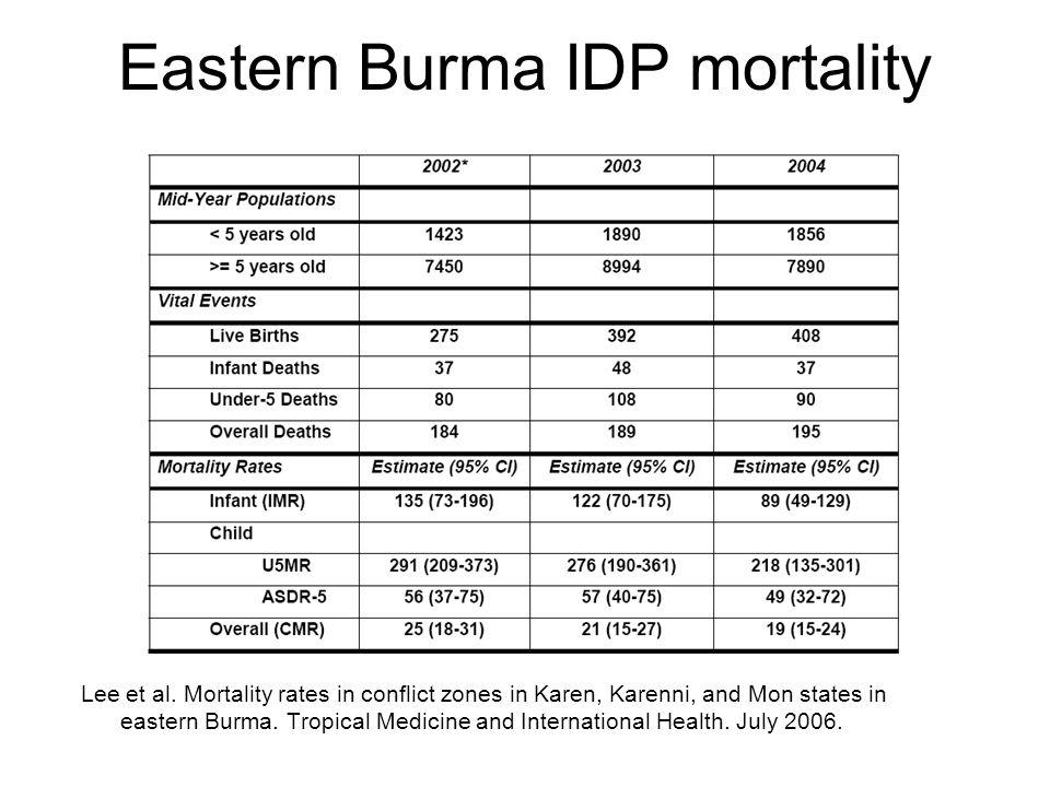 Eastern Burma IDP mortality Lee et al.