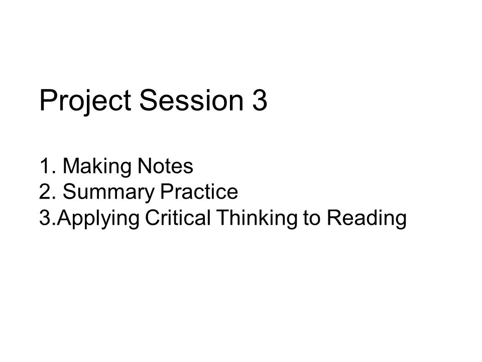 Read the text on page 34 of your materials booklet and make notes on a separate piece of paper.