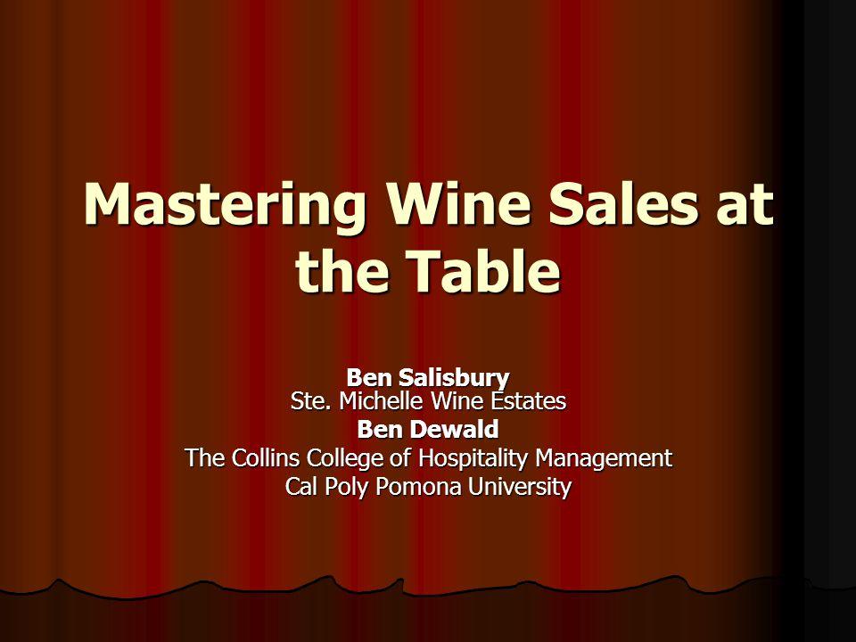 Mastering Wine Sales at the Table Ben Salisbury Ste.