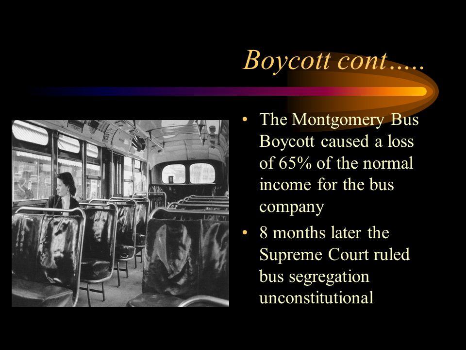 Boycott cont…..