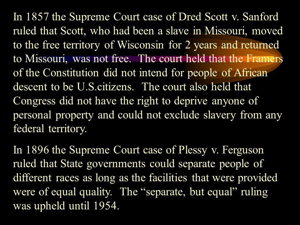 School Desegregation May 17, 1954 the Supreme Court case of Oliver Brown v.