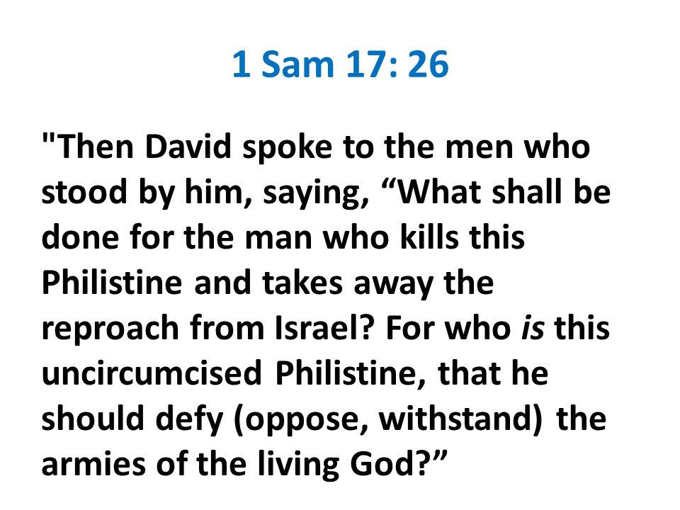 1 Sam 17: 26