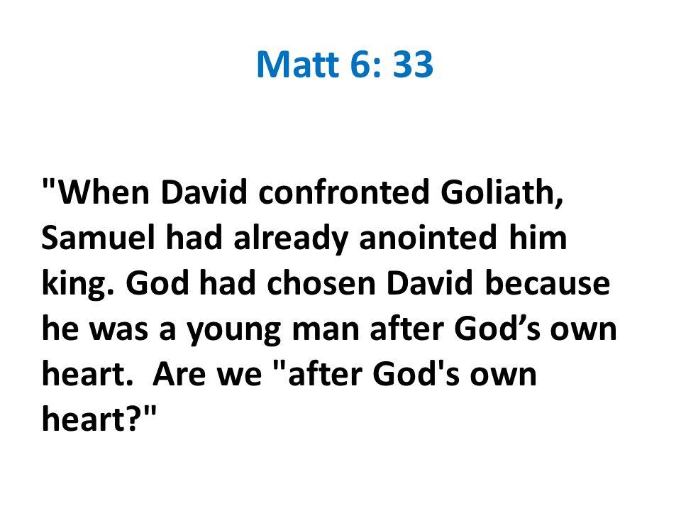 Matt 6: 33