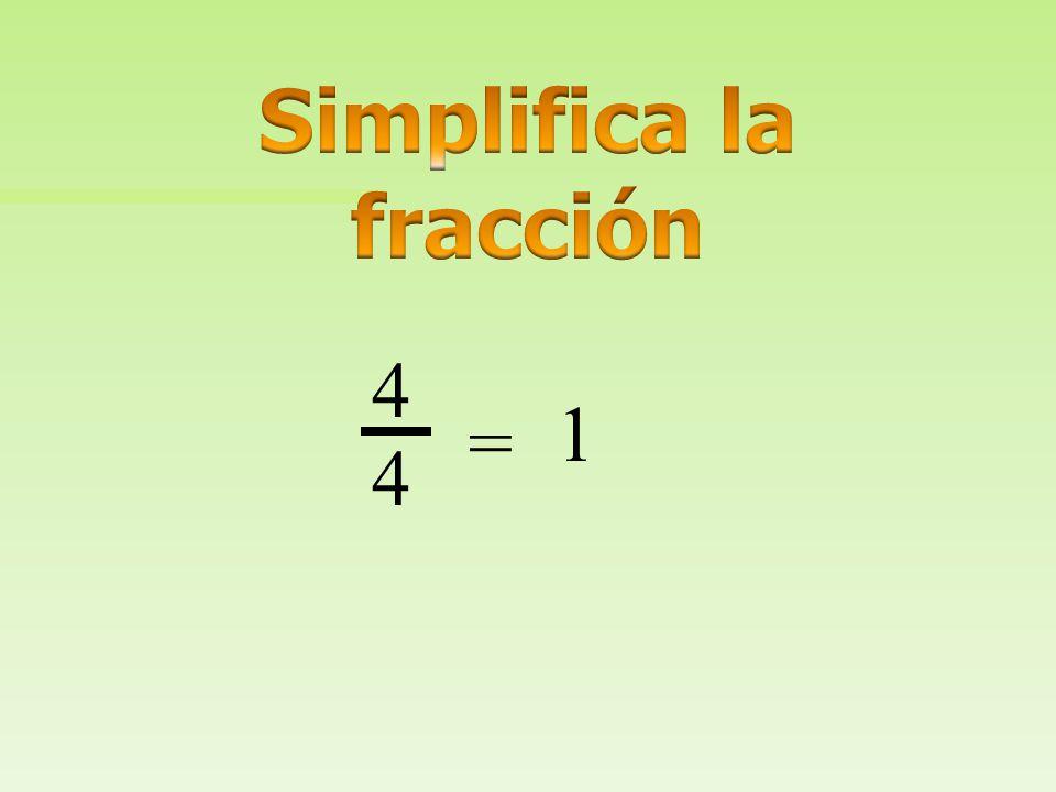 1/4 3 4 1 4 4 4 + = Suma los numeradores